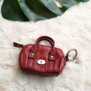 Fossil Mini handbag keychain coin purse